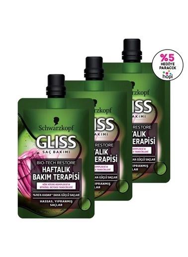 Gliss Gliss Biotech Restore Haftalık Bakım Terapisi 50 Ml 3'Lü Renksiz